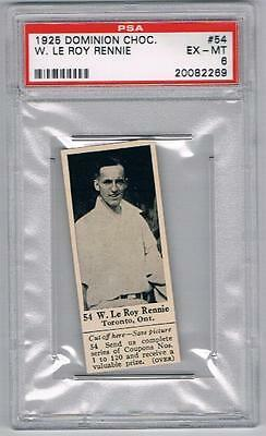 1925 Dominion Choc. Sports Card #54 W. Le Roy Rennie (Tennis) Graded PSA 6