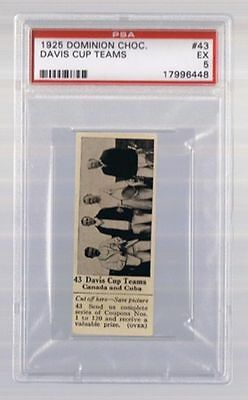 1925 Dominion Choc. Sports Card #43 Davis Cup Teams (Tennis) Graded PSA 5