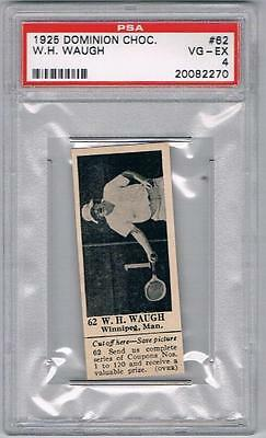 1925 Dominion Choc. Sports Card #62 W.H. Waugh (Tennis) Graded PSA 4
