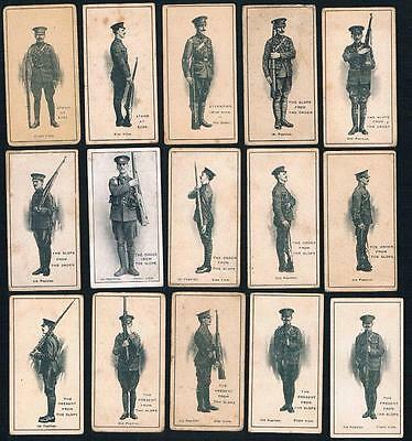 1915 ITC Infantry Training Tobacco Cards Complete Set of 50