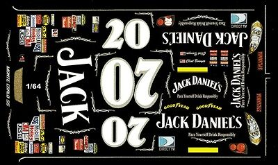 #07 Clint Bowyer Jack Daniels 2006 1/64th HO Scale Slot Car Waterslide Decals