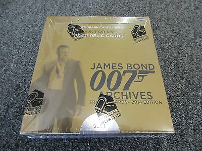 James Bond Archives 2014 Edition Trading Cards Factory Sealed Box w/ Promo P1