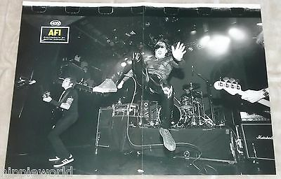 AFI live onstage 11 x 15 centerfold poster Yngwie Malmsteen's guitar collection