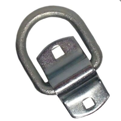 """One (1) New 1/2"""" Diameter Forged D-Ring with Mounting Bracket / Clip Attachment"""