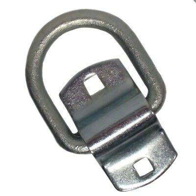 "1/2"" D Ring Weld or Bolt-on Flatbed Truck Car Trailer Chain Strap Rope Tie Down"