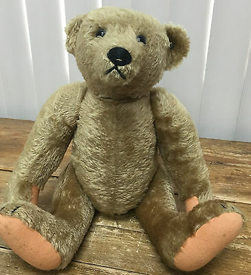 "Steiff Golden Teddy Bear Back Hump Jointed Classic Mohair Plush 16"" 40cm HELP ?"