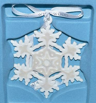 "Wedgwood White 4""  Snowflake Christmas Tree Ornament"