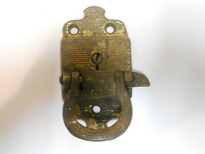 Antique Vintage Bronze Refridgerator Latch Lock Pull Part