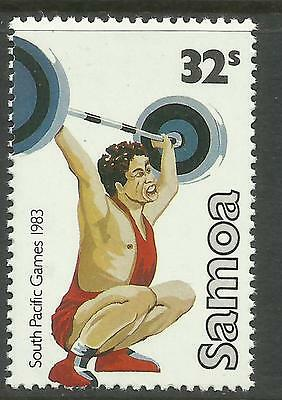 SAMOA 1983 SOUTH PACIFIC GAMES Single WEIGHTLIFTING 1 Value MNH