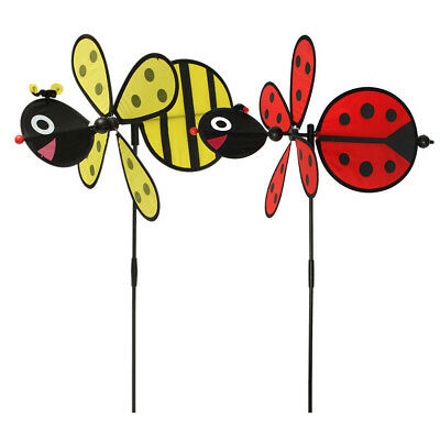 Hot Bumble Bee / Ladybug Windmill Whirligig Wind Spinner Home Yard Garden Decor