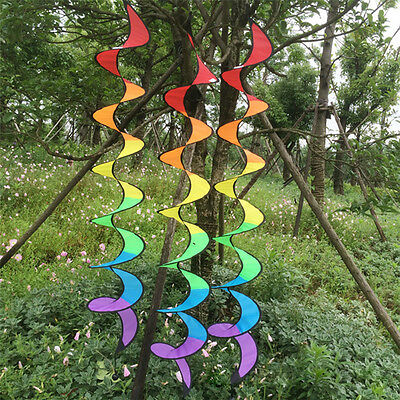 Hot Rainbow Spiral Windmill Tent Colorful Wind Spinner Garden Home Decorations