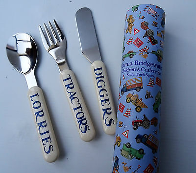 Emma Bridgewater ' Men At Work' 3 piece Children's Cutlery Set