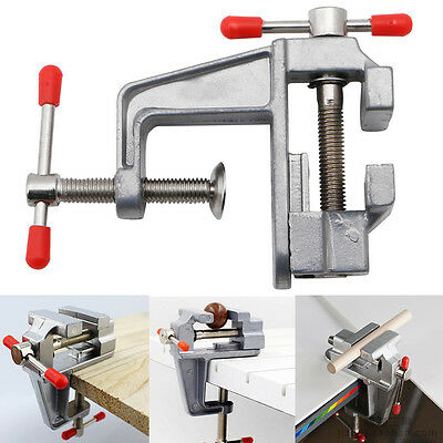 "3.5"" Mini Aluminum Small Jewelers Hobby Clamp On Table Bench Vise Tool Vice New"