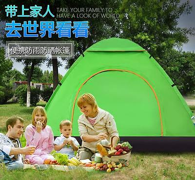 Auto Pop Up 3-4 Person Camping Outdoor Waterproof Camp Hiking Family Tent Tents