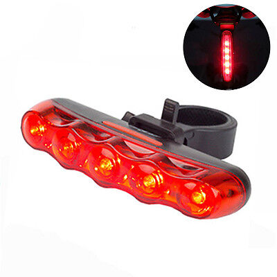 NEW 5 LED Waterproof BIKE BICYCLE CYCLE REAR Back TAIL LIGHT LAMP Taillight UK