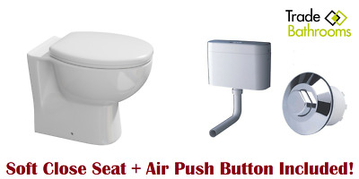 Grohe Adagio Concealed Hidden Cistern Air Button Back To Wall Toilet Soft Close