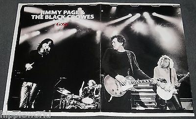 Jimmy Page with The Black Crowes 11 x 17 centerfold poster Staind's Mike Mushok