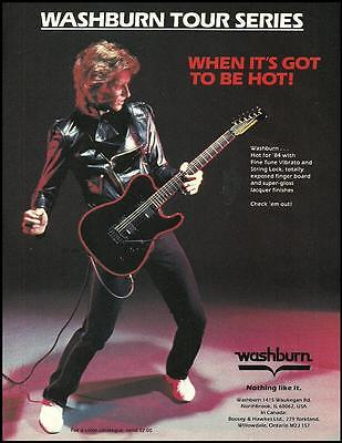 The Washburn Tour Series Electric guitar 1984 ad 8 x  11 advertisement print