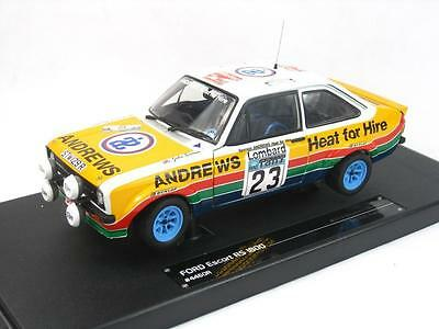 Ford Escort Rs1800 Russell Brookes 1:18 New 3Rd Rac Rally 1977 Sun Star 4460
