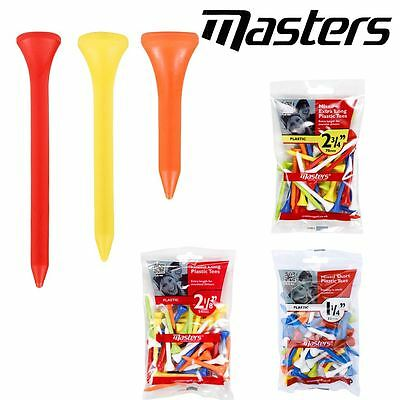 Masters Tees Mixed Plastic Golf Tees Bumper Pack - Various Options