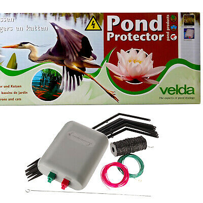 Velda Pond Protector Electric Fence Stops Herons Cats Garden Goldfish Koi Fish