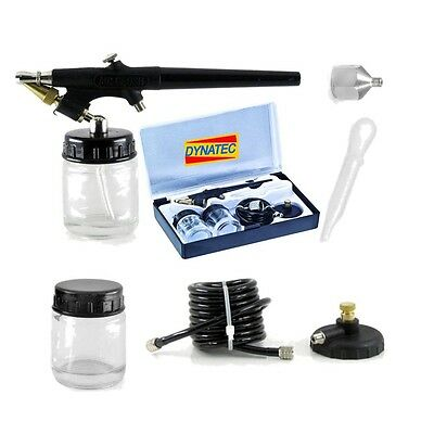 Air Brush Mini Spray Gun Kit Artist Craft Hobby Paint HS 38 Type Suction FMT2138