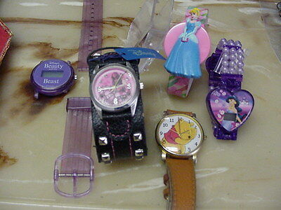 Lot Of 5 Vintage Disney Wristwatches, 5 Watches In Lot For 1 Price