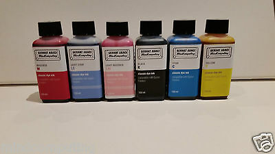 Refill 6x 250ml classic dye ink Epson Stylus Photo R200 R300 RX500 NON OEM