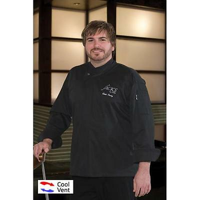 Chef Works New Yorker Chef Coat Jacket - Cool Vent - Black - All Sizes
