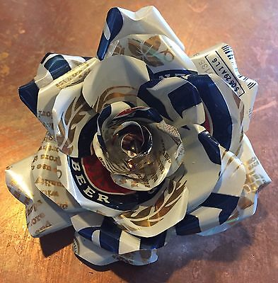 """Forever Rose"" For Him Handmade w/ His Favorite Beer Can Anniversary Valentines"