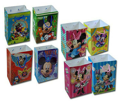 12 Disney Licensed Small Goody Treat Gift Bags PARTY FAVORS Mickey Minnie Cars