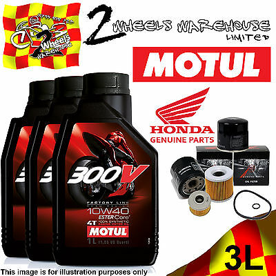 3L Motul 300V 10W40 Oil & 15410Mcj505 Filter Change Honda Cb750 Sevenfifty 2002