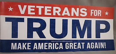 Wholesale Lot Of 10 Veterans For Trump Stickers Make America Great Again! Usa $