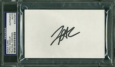Tupac Shakur Gridlock'd Authentic Signed 3x5 Index Card PSA/DNA Slabbed