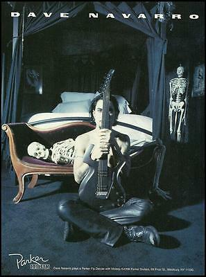 Jane's Addiction Dave Navarro Parker Fly Deluxe guitar ad 8 x 11 advertisement