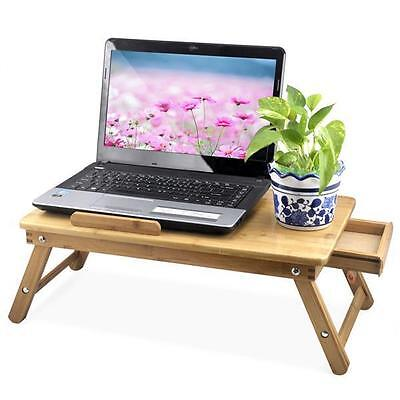 UK New Portable Flower Bamboo Laptop Notebook Computer Desk Bed Tray Stand Table