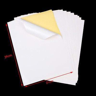 50/100x A4 White Self Adhesive Sticker Paper Sheet Address Labels NEW