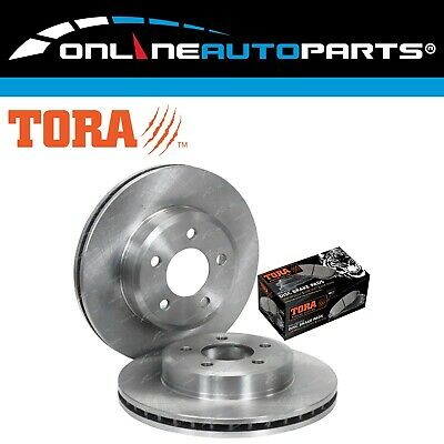 2 Front Disc Rotors + Brake Pads Falcon BA BF FG XT 2002-12 Fairlane LTD XR6 XR8