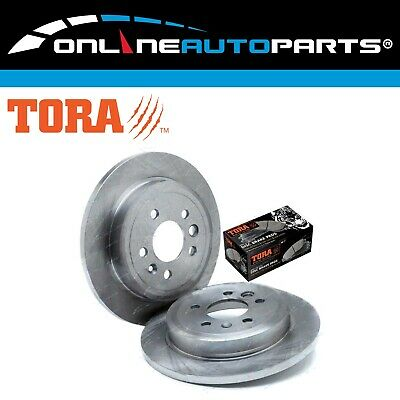 2 Rear Disc Rotors + Brake Pads Falcon BA BF FG 02-12 Fairlane XT G6 G6E XR6 XR8
