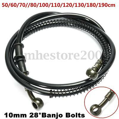 50cm - 190cm Motorcycle Bike Brake Clutch Throttle Cable Oil Hose Line Pipe