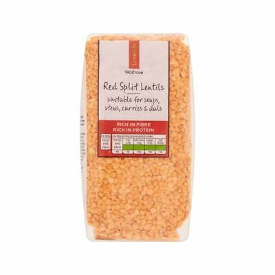 Red Split Lentils Waitrose Love Life 500g
