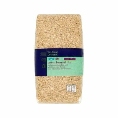 Organic Brown Basmati Rice Waitrose Love Life 1kg