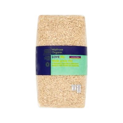 Whole Grain Rice Waitrose Love Life 1kg