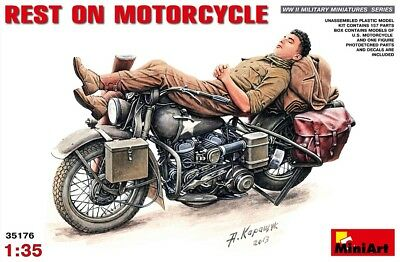 Miniart 35176 - 1/35 Us Army Rest On Motorcycle - Neu