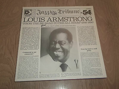 "Louis Armstrong "" From The Big Band To The All Stars "" 2 X Vinyl Lp Jazz Ex/ex"