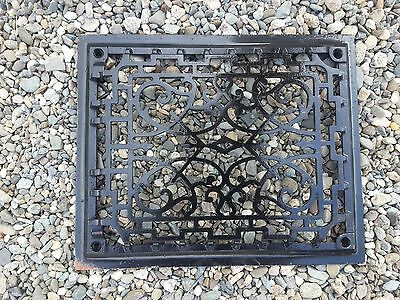 OLD VICTORIAN Cast Iron Heat Wall Vent Floor Grille Grate Register 11 x 9