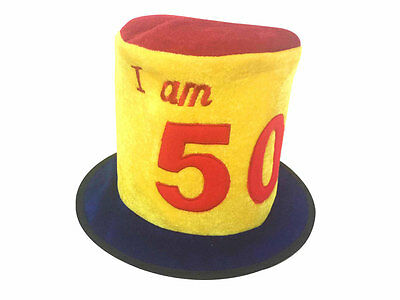 50Th Birthday Age Novelty Top Hat - Party Celebration