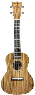 """Chord 175.311 24"""" Zebrano Crafted from Exotic Woods Native Series Ukuleles - New"""