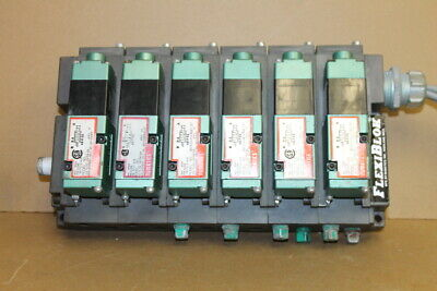 "Spool valve, Solenoid operated, 5/2, 24VAC, 1/4""NPT, 081SA15K Neumatics Lot of 6"