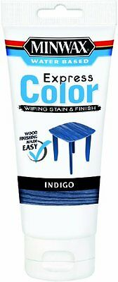 Minwax 30807 Water Based Express Color Wiping Stain and Finish �Indigo